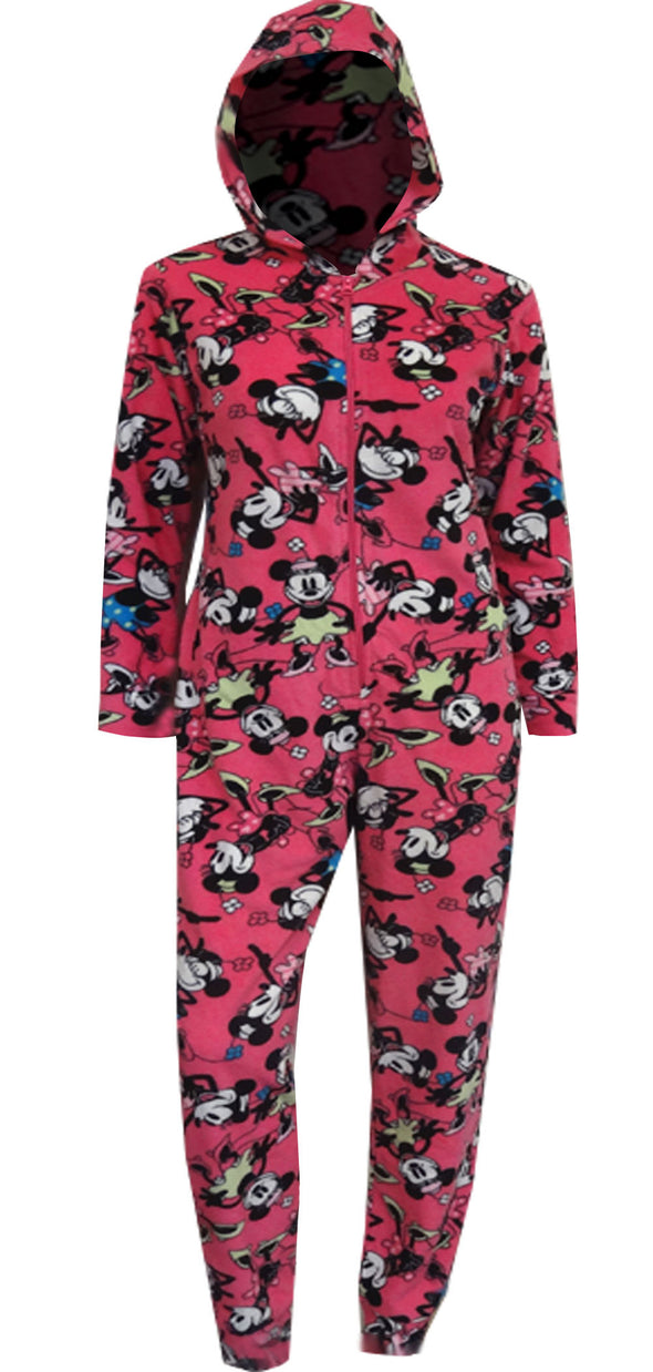 Minnie Mouse Fleece Onesie Pajamas with Hood Size XL