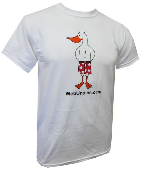 WebUndies Short Sleeve Logo  Front Back Duck Tee Shirt