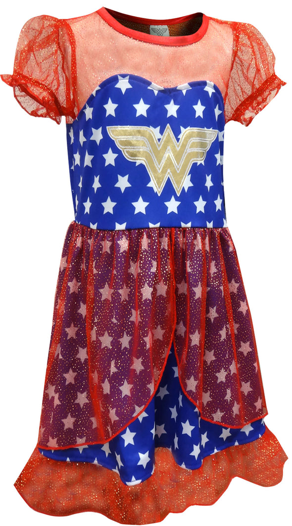 Wonder Woman Girls Sparkly Nightgown