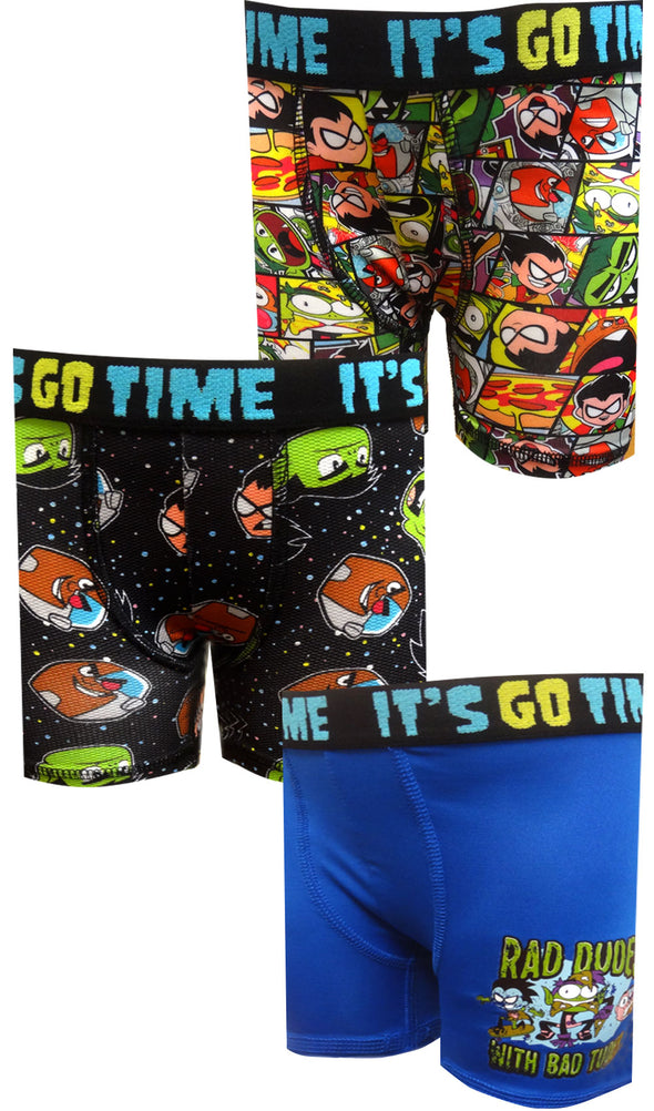 Teen Titans 3 Pack Performance Boxer Briefs