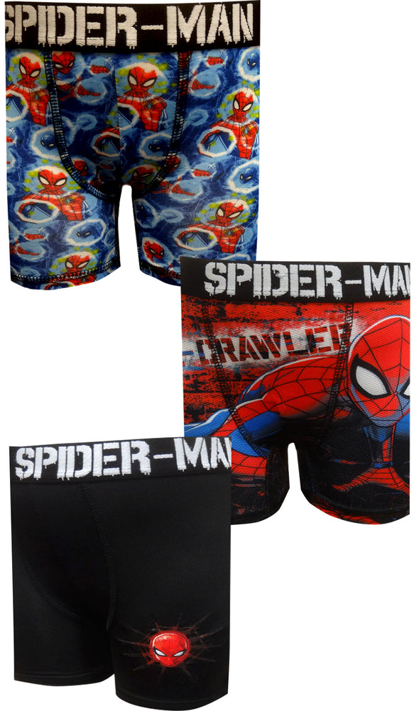 Spiderman 3 Pack Performance Boxer Briefs