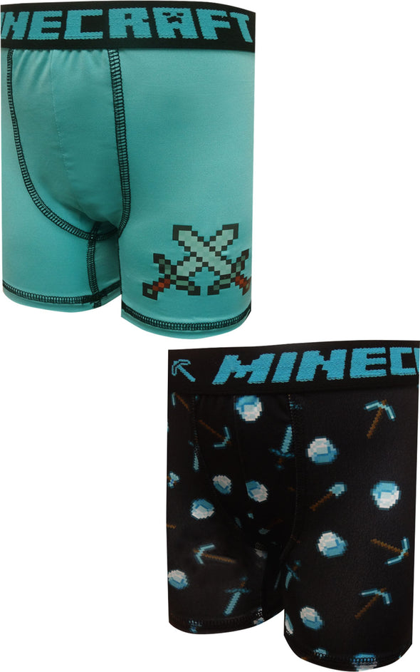 Minecraft Diamond Tools 2 Pack Performance Boxer Briefs