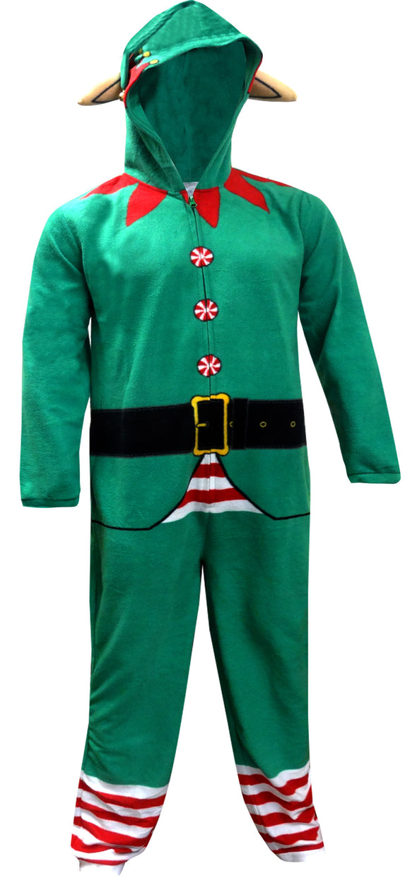 Christmas Elf Onesie Hooded Union Suit Pajama