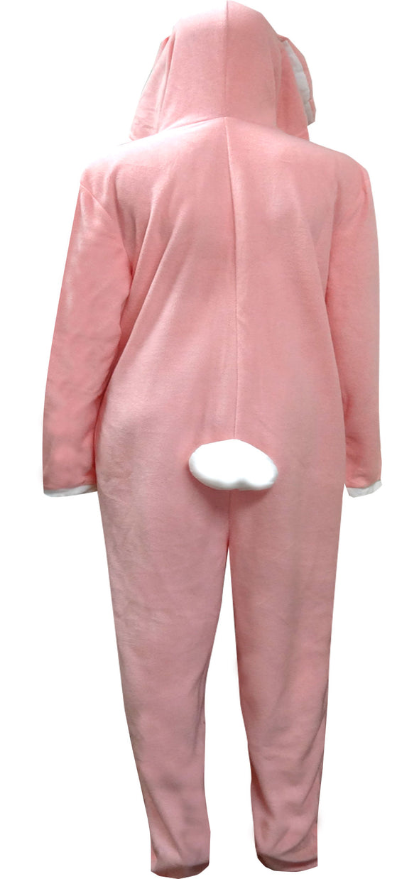 Adorable Pink Bunny Hooded Onesie Pajama