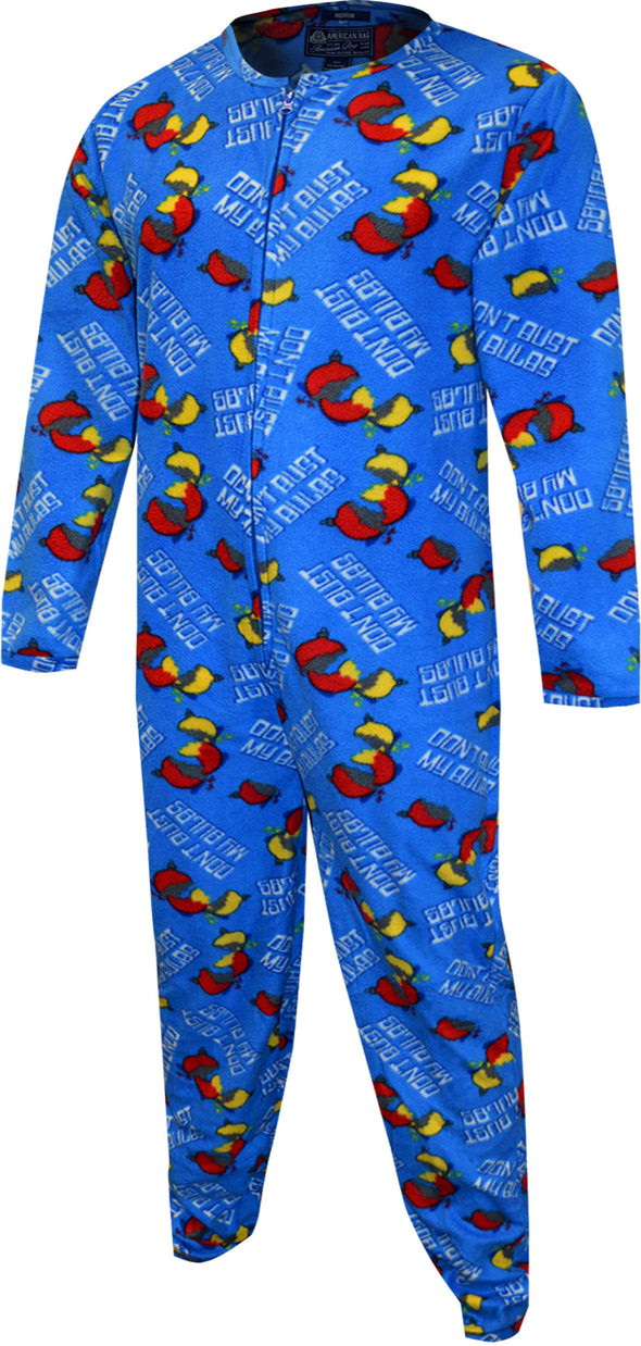 Christmas Don't Bust My Bulbs One Piece Union Suit Pajama