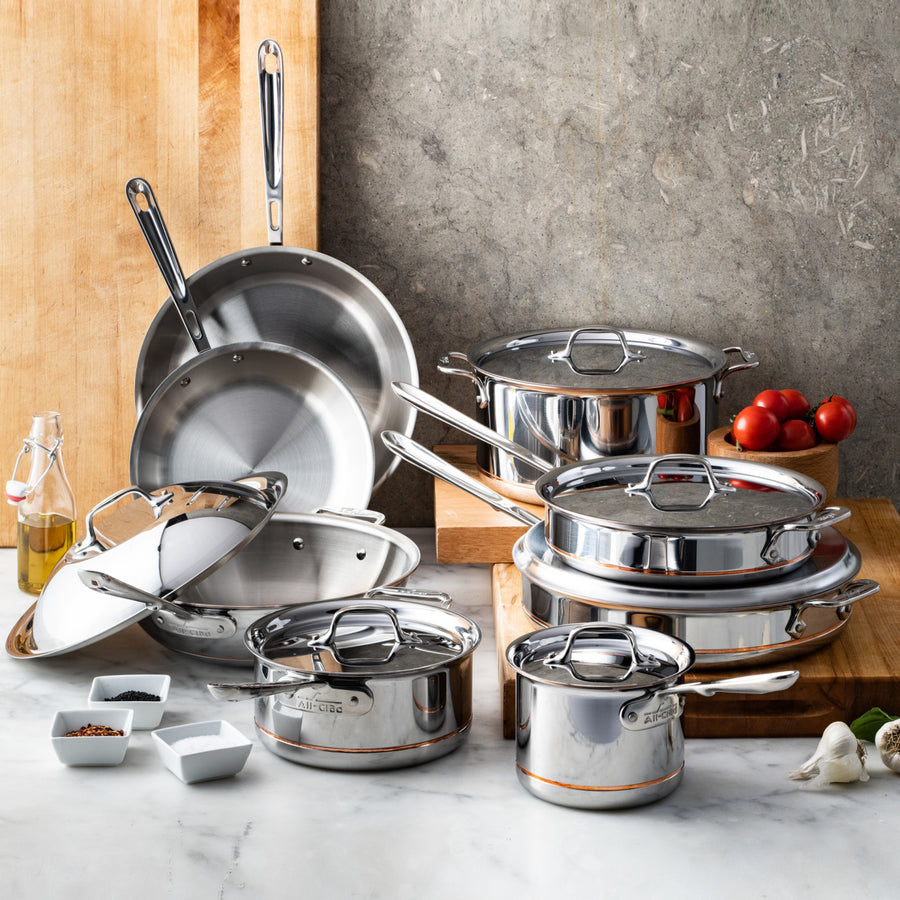 All-Clad Copper Core 8 Piece Cookware Set