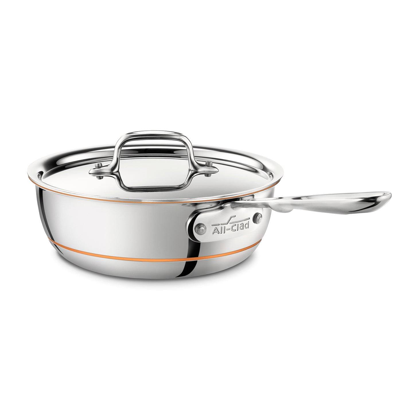 All-Clad Copper Core Curved Splayed Saute Pan with Lid 22cm / 2Qt