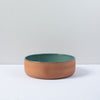 Aubagne Terracotta Bowl / Blue Pebble / 19cm