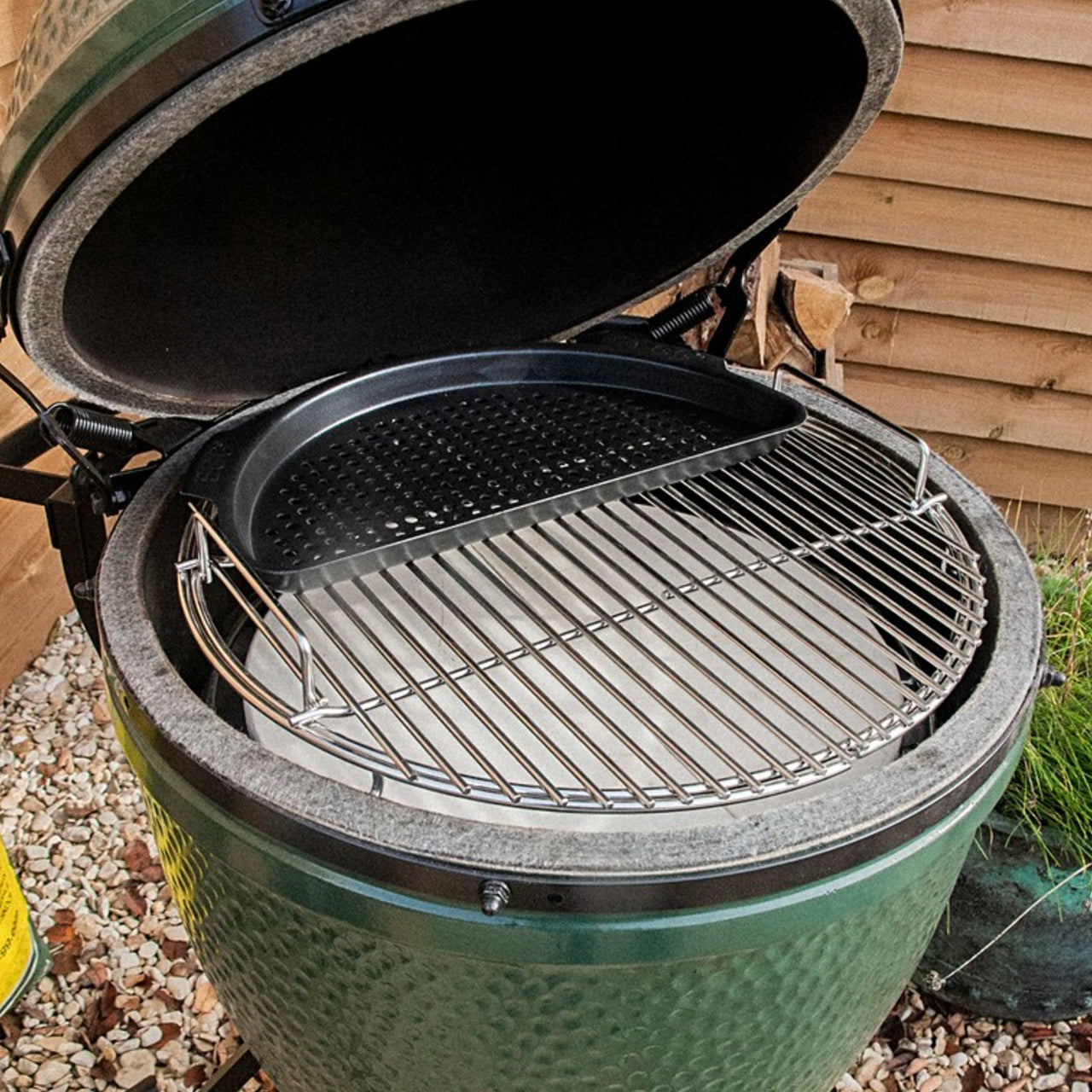 Big Green Egg Half Moon Perforated Grid for EGGspander System