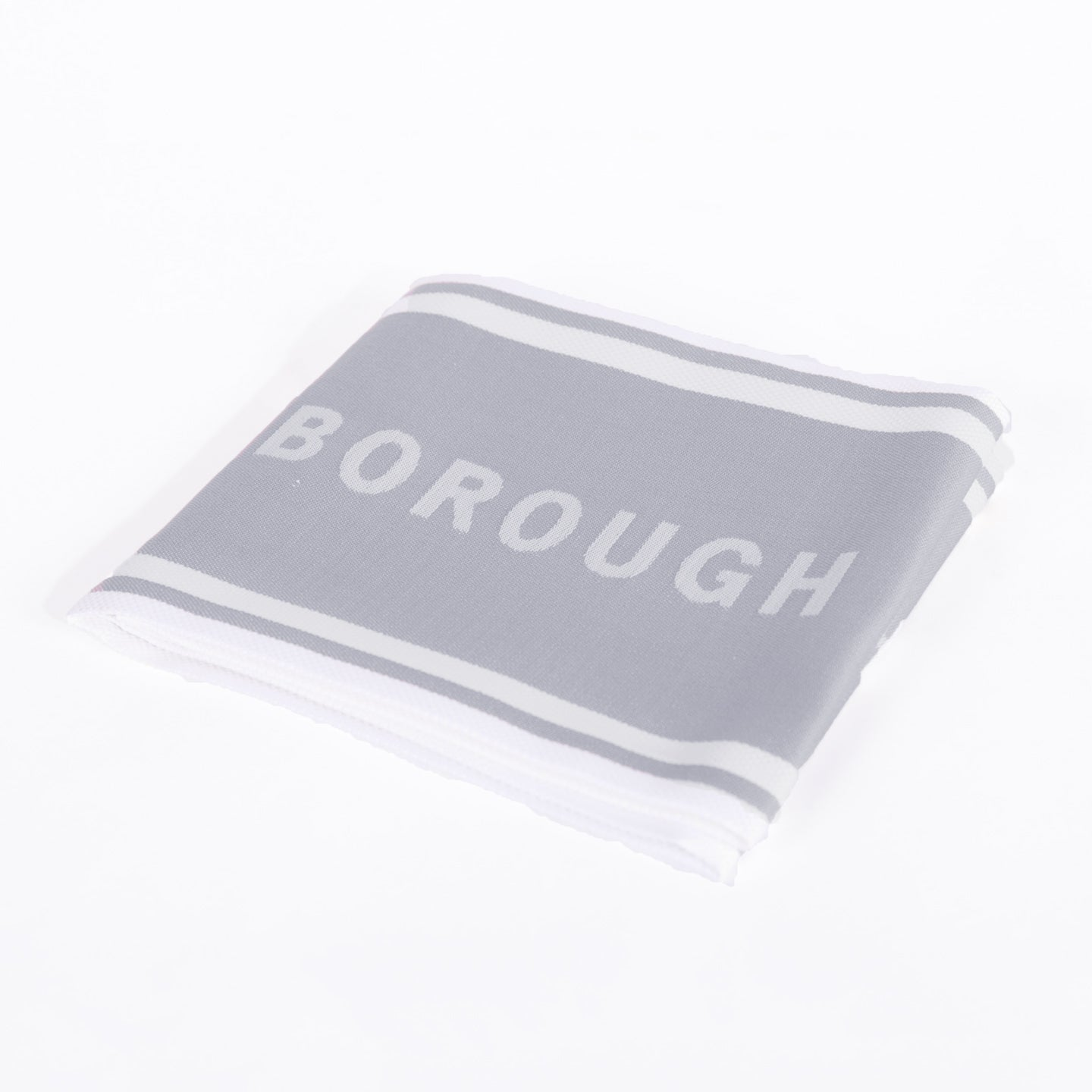 Borough Kitchen French Jacquard Tea Towel / 75.5x51cm / Grey