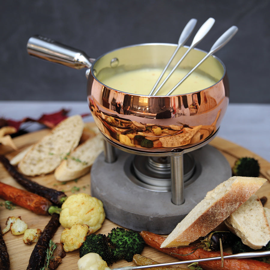Boska Copper Fondue Set