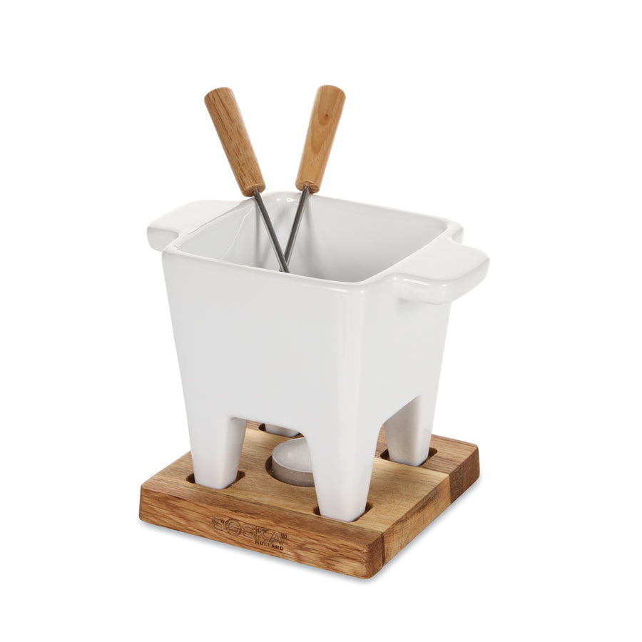 Boska Tapas Fondue White / Oak Base / 200ml