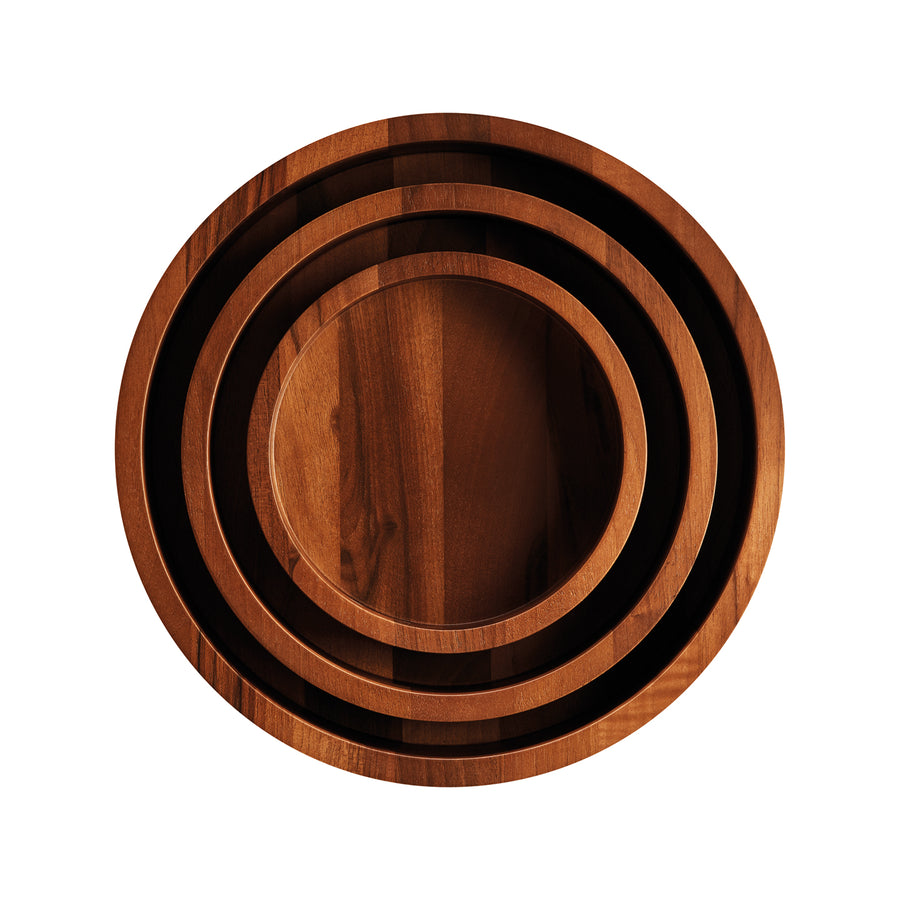 Breka Walnut Ribbed Salad Bowl