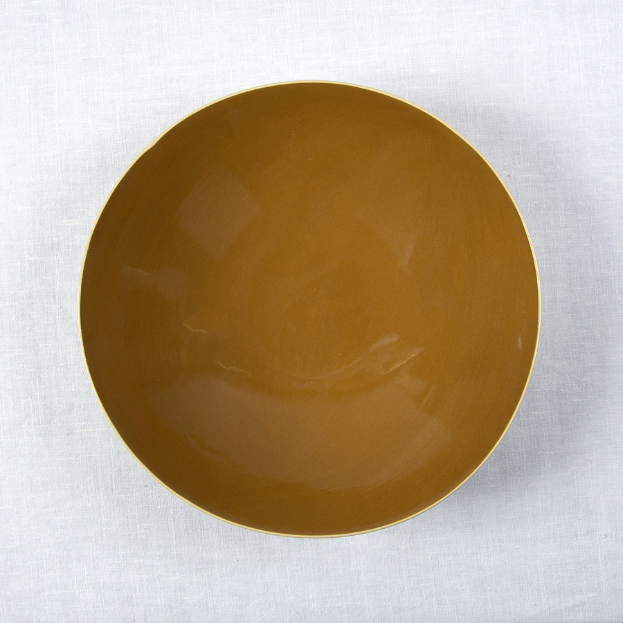 Brickett Davda Medium Round Bowl / 29cm / Mustard