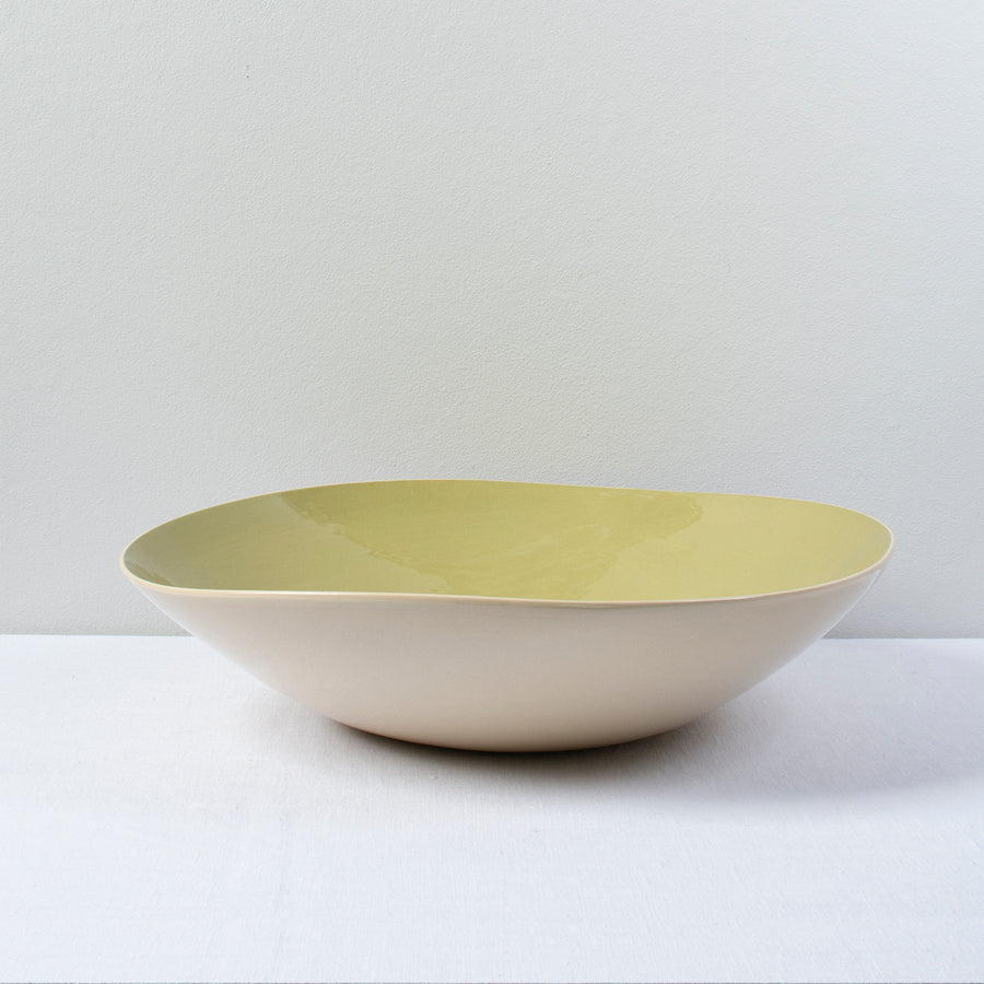 Brickett Davda Large Round Bowl / 34cm / Leaf