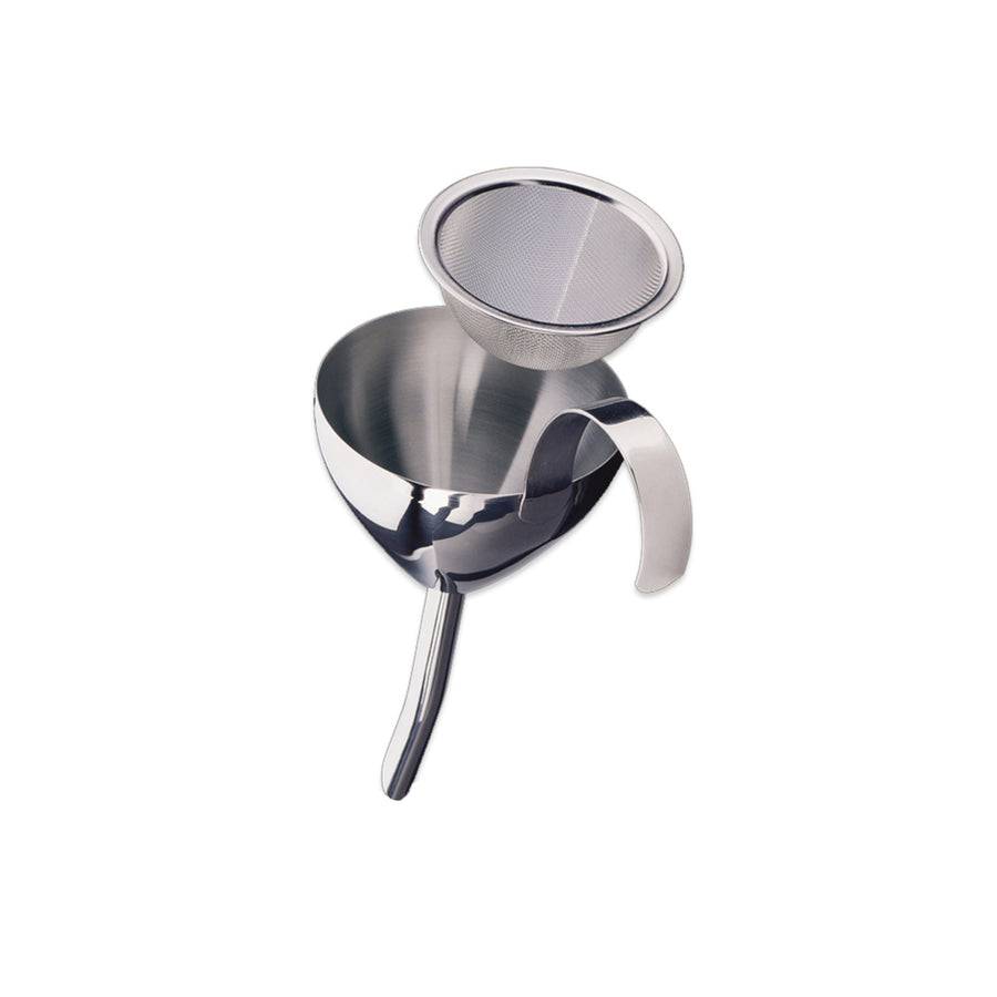 Cilio Stainless Steel Wine Funnel with Strainer