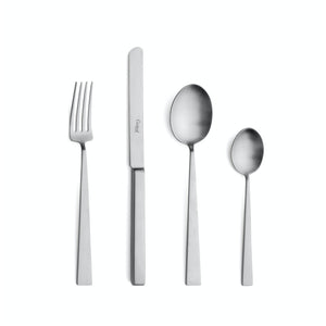 Cutipol Bauhaus 24 Piece Cutlery Set / Brushed Steel