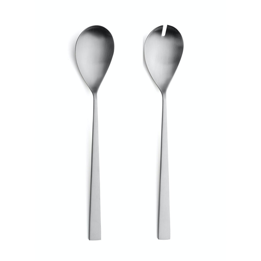 Cutipol Bauhaus Salad Servers / Brushed Steel