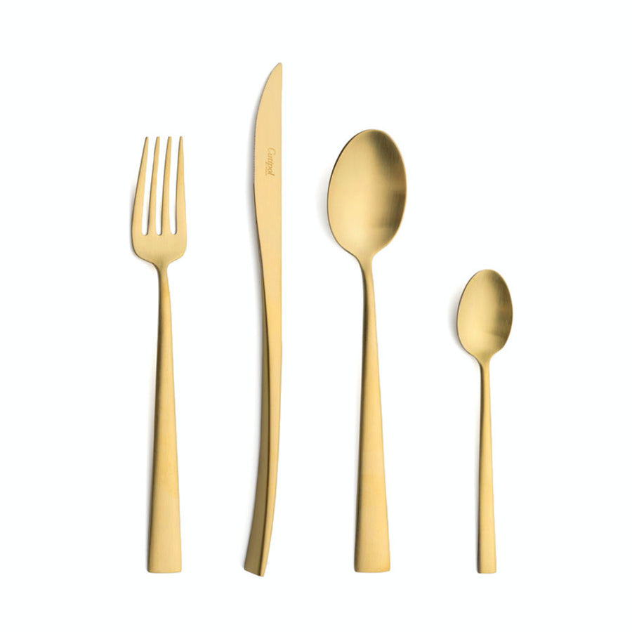 Cutipol Duna 24 Piece Cutlery Set / Brushed Gold