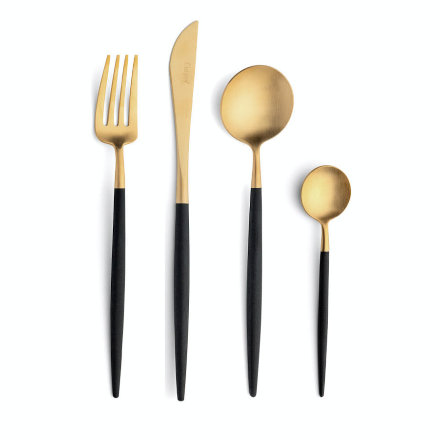 Cutipol Goa 24 Piece Cutlery Set / Black & Gold