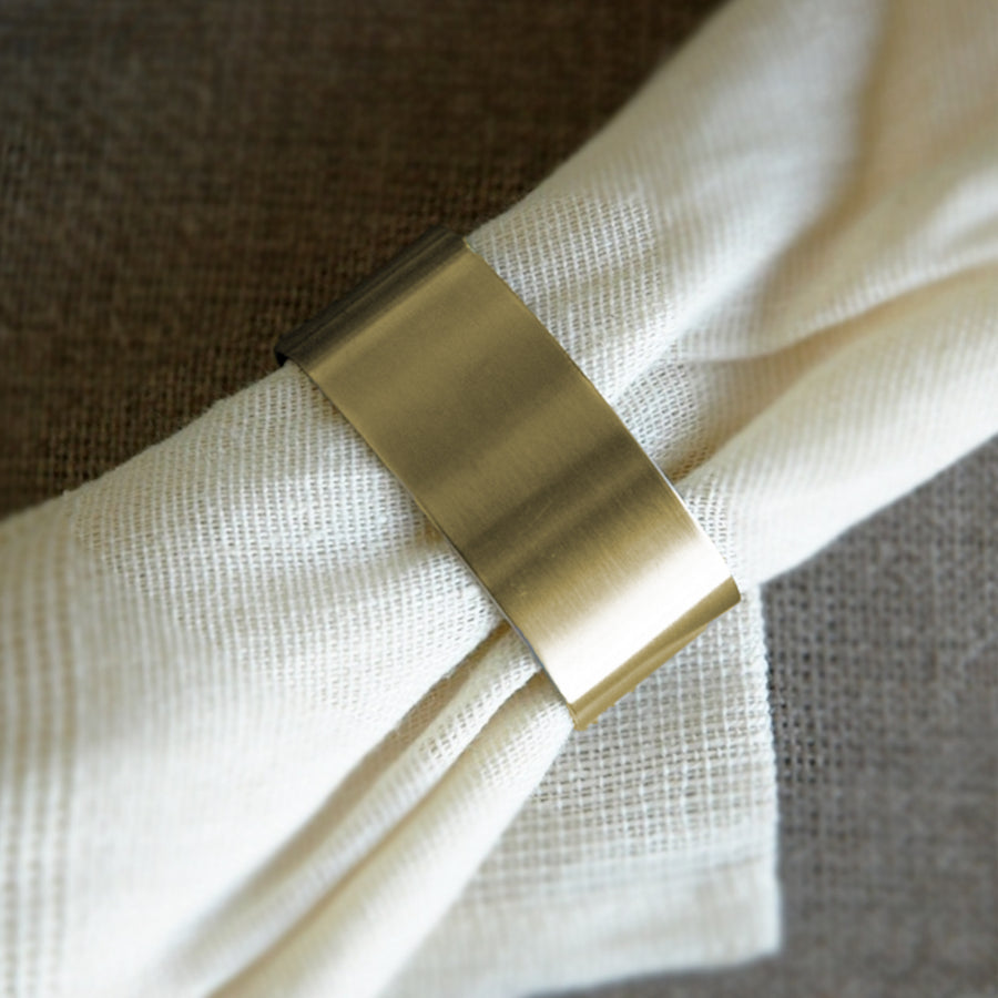 Cutipol Napkin Ring / Brushed Gold