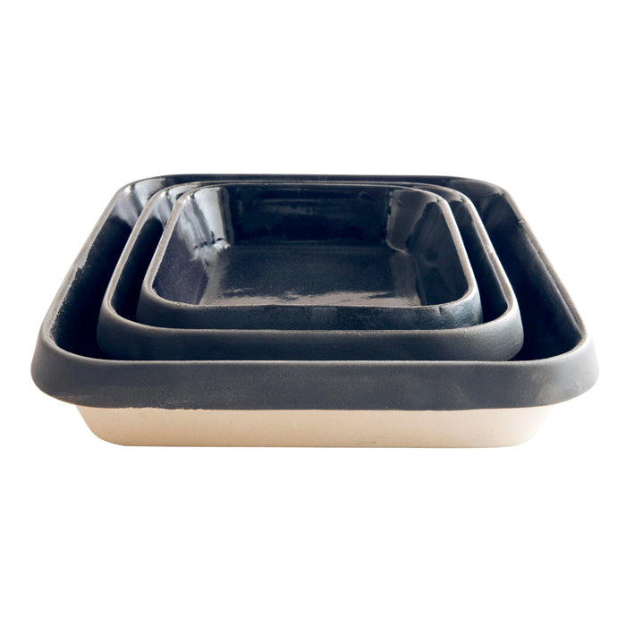 Digoin Rectangular Baking Dish Large / 32.5x27.5x6cm / 4.7L / Midnight Blue