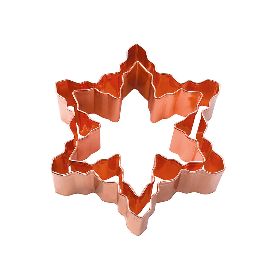Double Copper Cookie Cutter / Snowflake