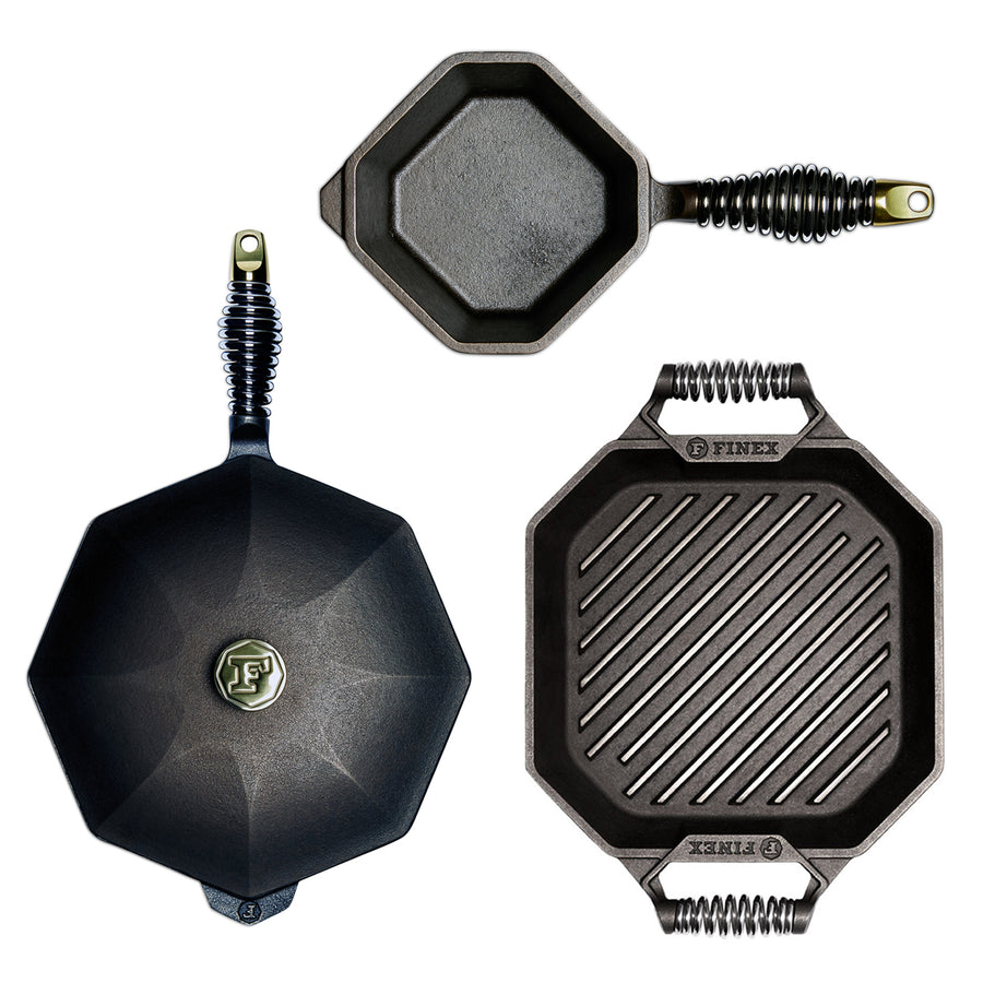 Finex 3 Piece Cast Iron Cookware Set