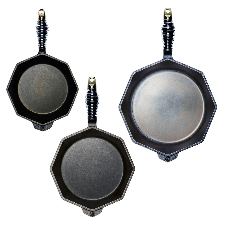 Finex 3 Piece Cast Iron Skillet Set