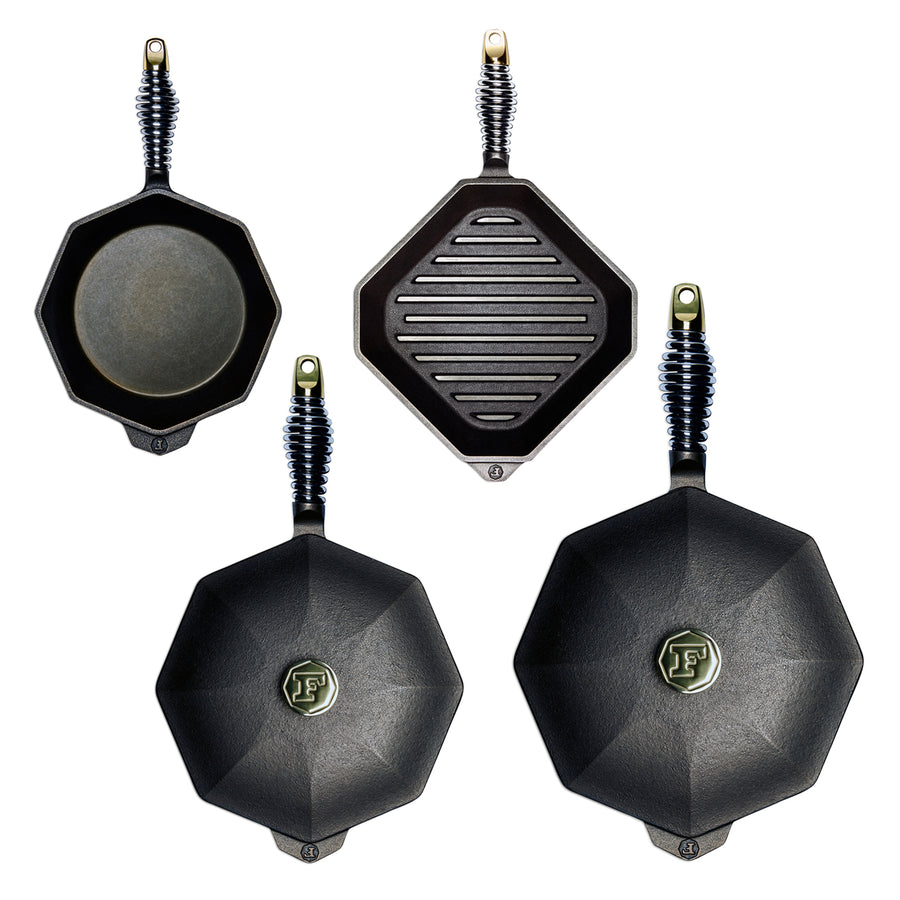 Finex 4 Piece Cast Iron Cookware Set