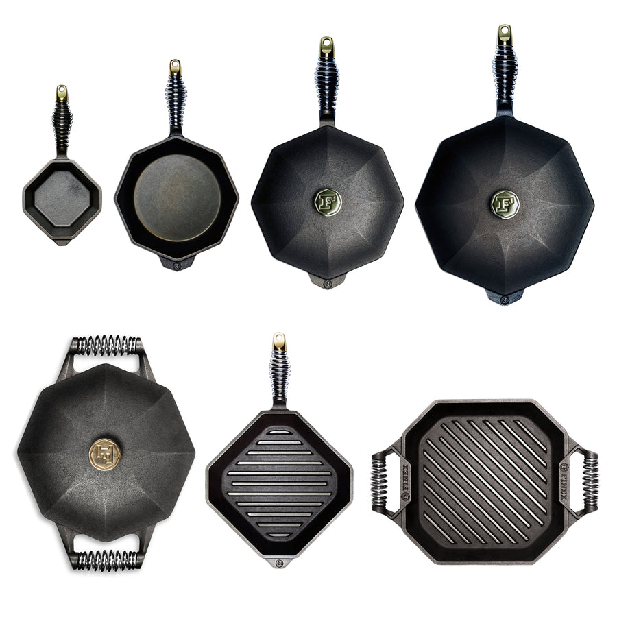 Finex 7 Piece Cast Iron Cookware Set
