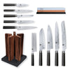 Kai Shun Classic 10 Knife, Whetstone and Block Set / Walnut Block