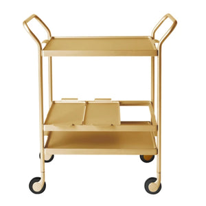Kaymet Cocktail Trolley / 3 Level / Gold
