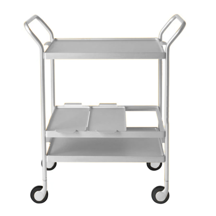 Kaymet Cocktail Trolley / 3 Level / Silver