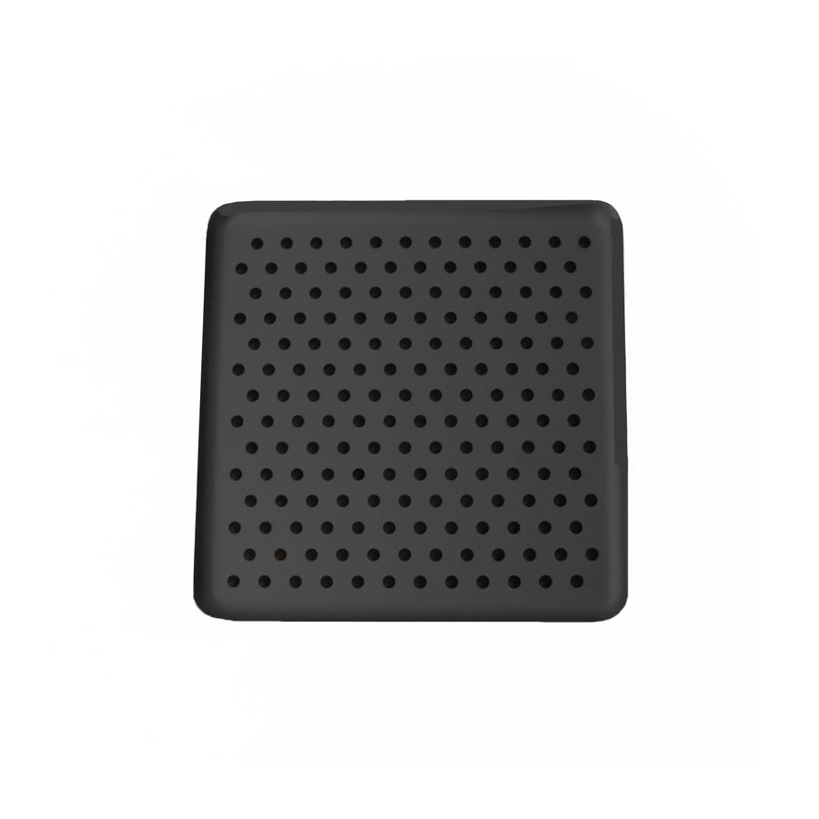 Kaymet Serving Tray Square Black and Rubber / 17x17cm