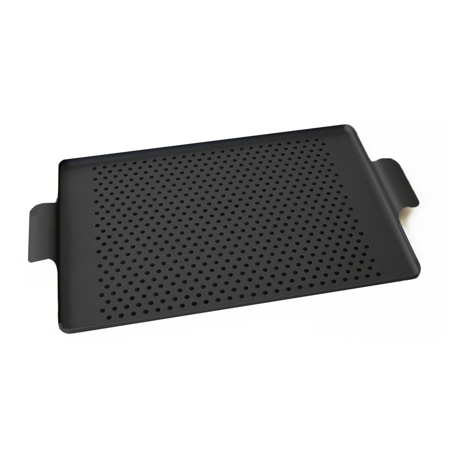 Kaymet Serving Tray Rectangle Black and Rubber