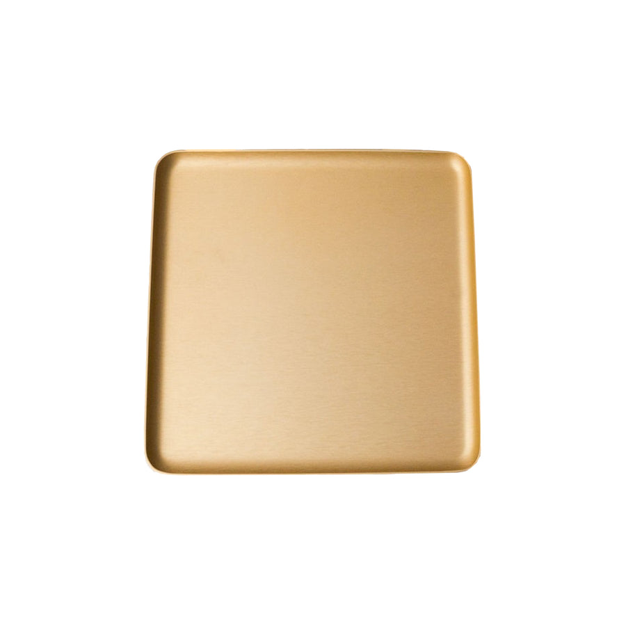 Kaymet Serving Tray Square Gold / 17x17cm