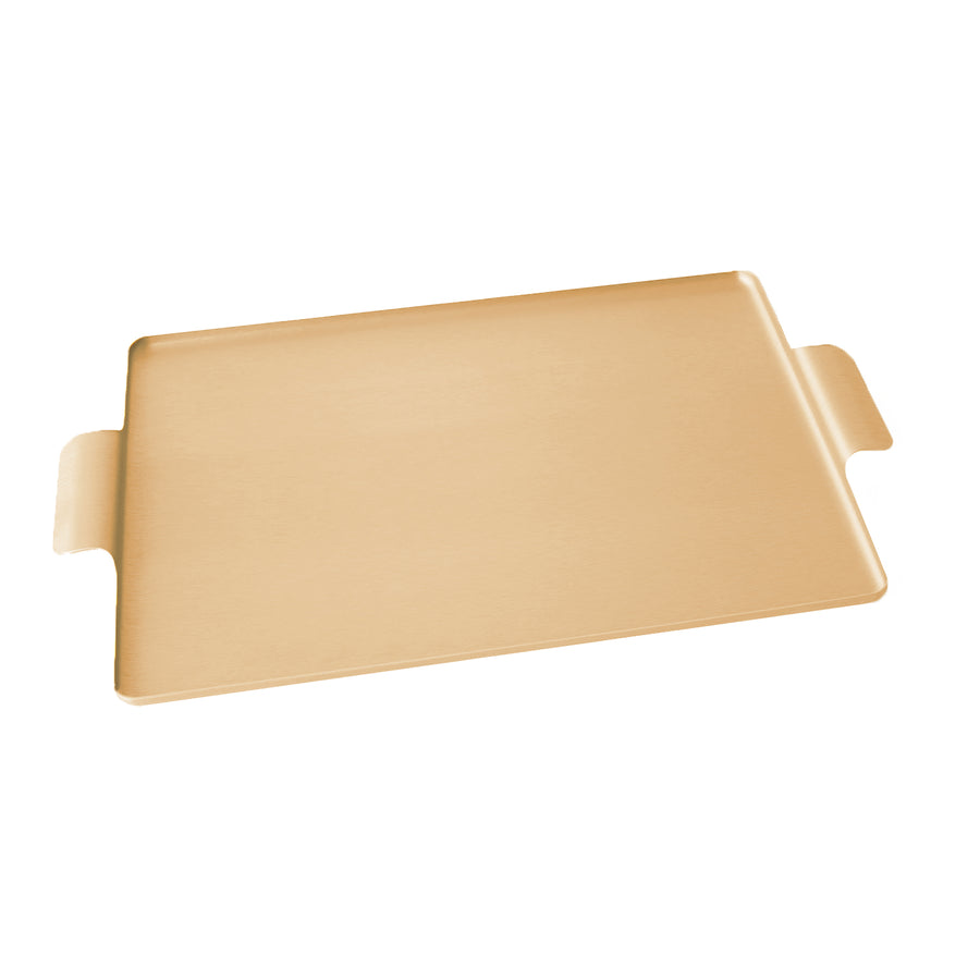 Kaymet Serving Tray Rectangle Gold