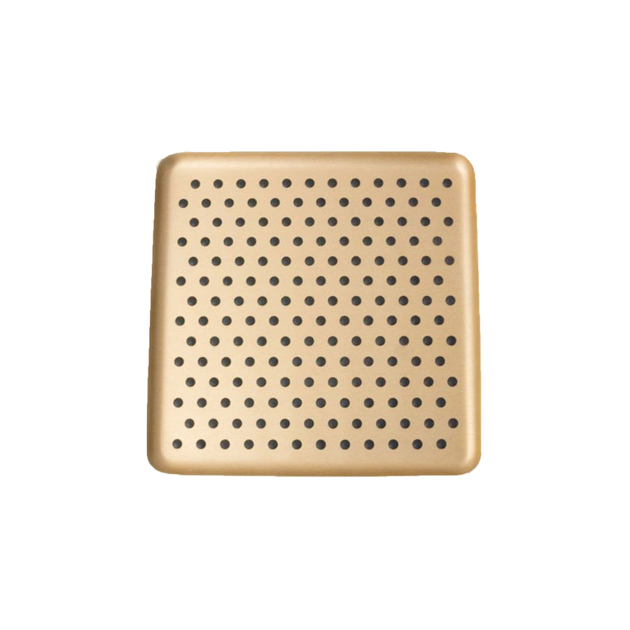 Kaymet Serving Tray Square Gold and Rubber / 17x17cm