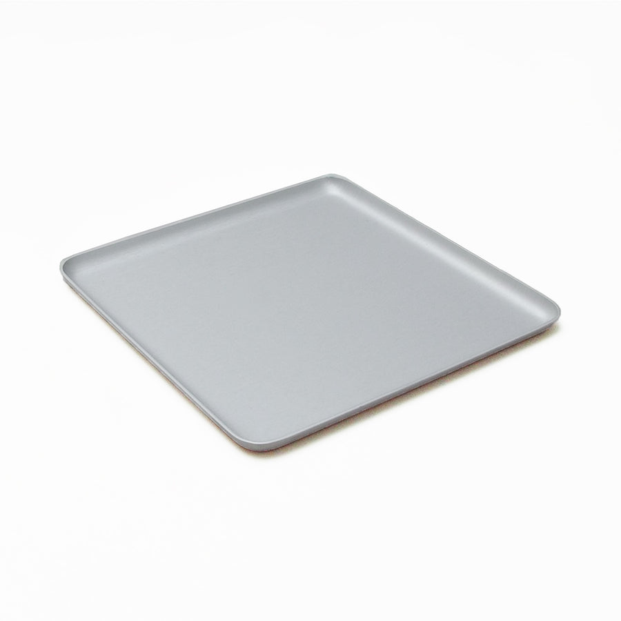 Kaymet Serving Tray Square Silver / 17x17cm