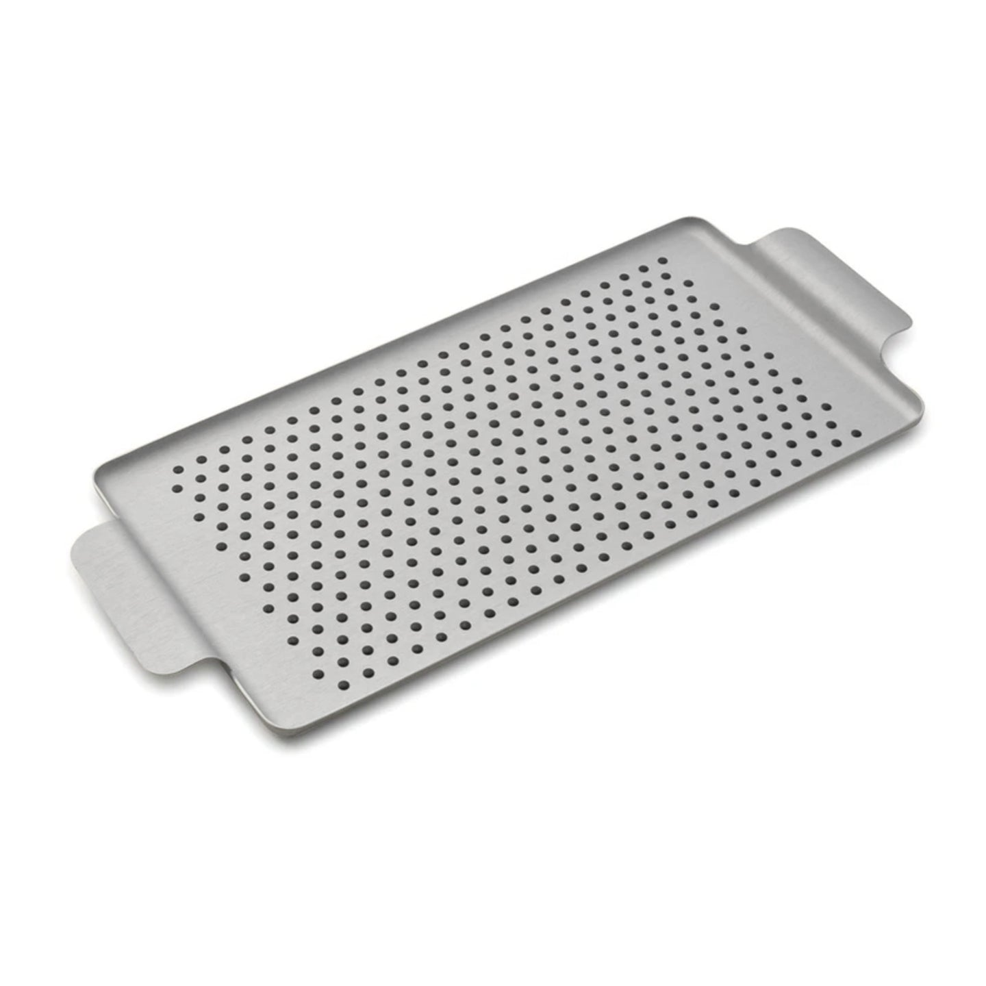 Kaymet Serving Tray Rectangle Silver and Rubber