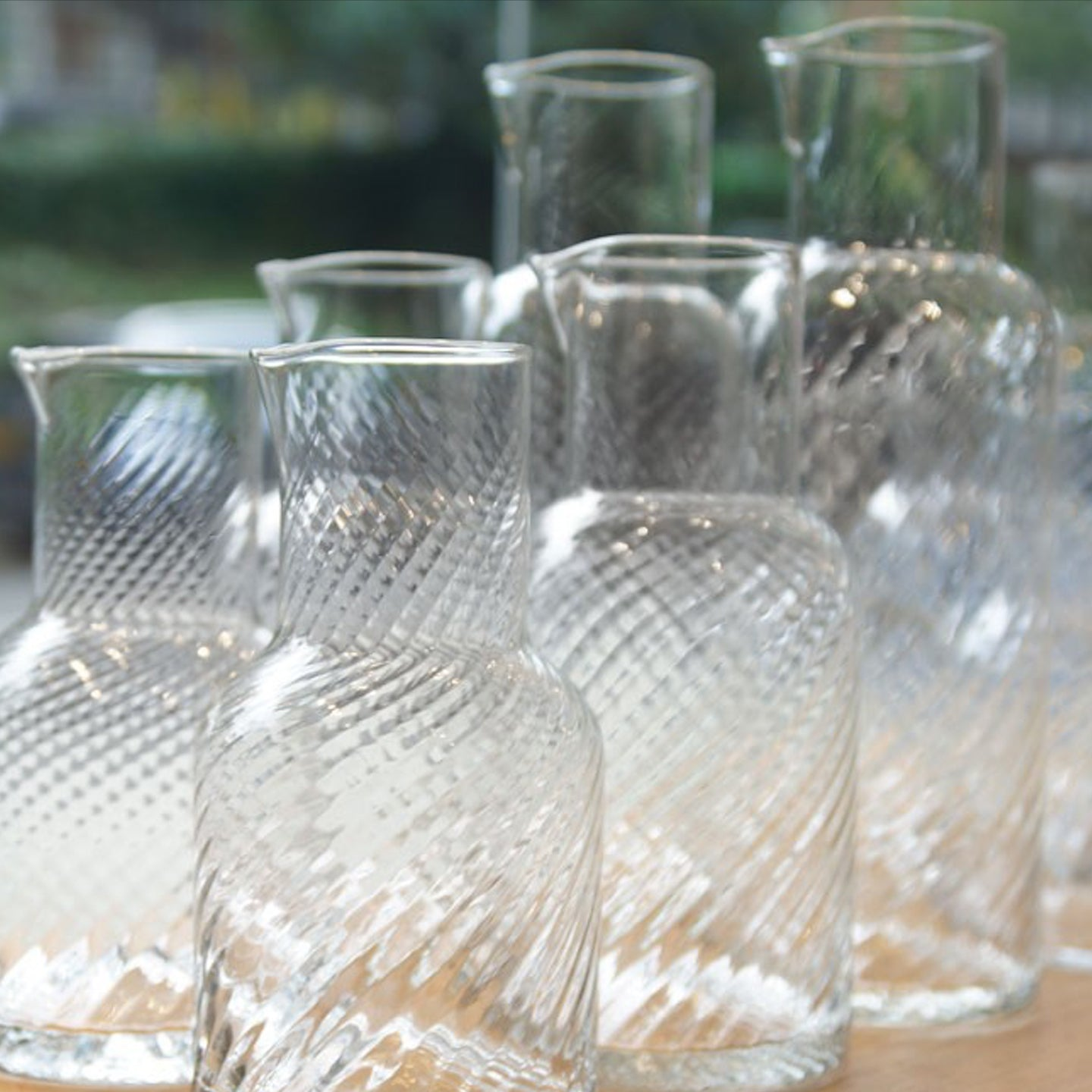 Lisbon Rippled Carafe / Clear