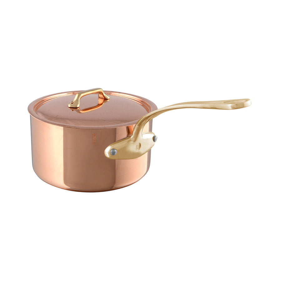 Mauviel M'Heritage M'250B Saucepan Brass Handle with Lid