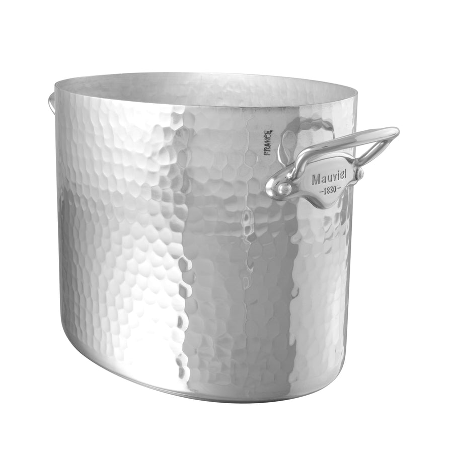 Mauviel M'30 2 Bottle Hammered Aluminium Champagne Bucket