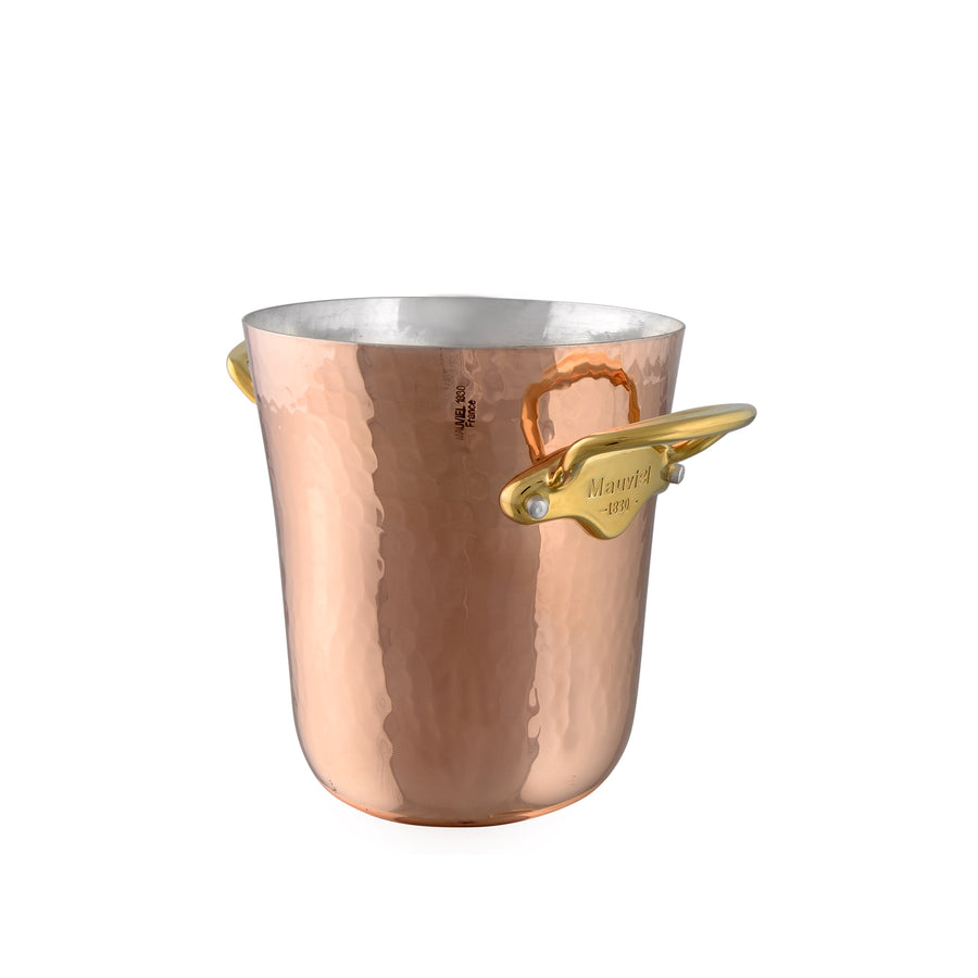 Mauviel M'30 Copper Hammered Ice Bucket Brass Handles