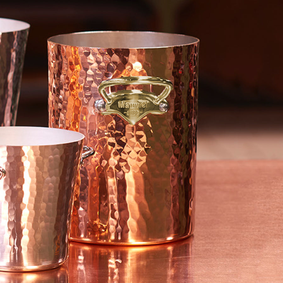 Mauviel M'30 Copper Wine Bucket Brass Handles
