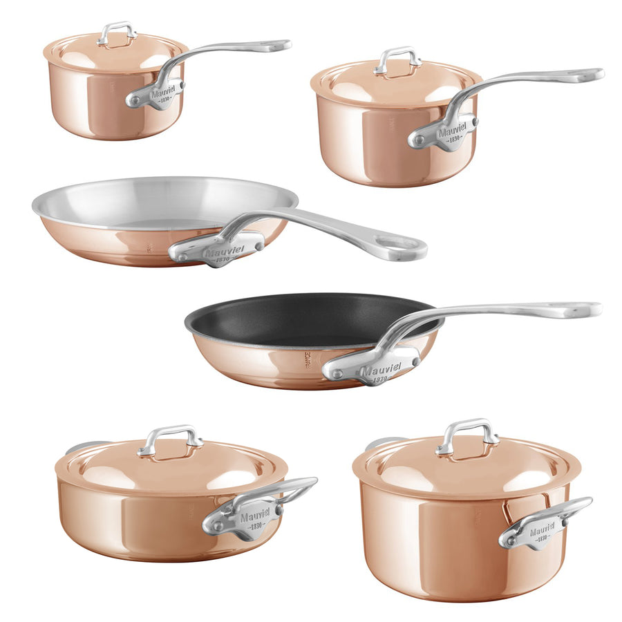 Mauviel M'6S Induction Compatible Copper 6 Piece Cookware Set