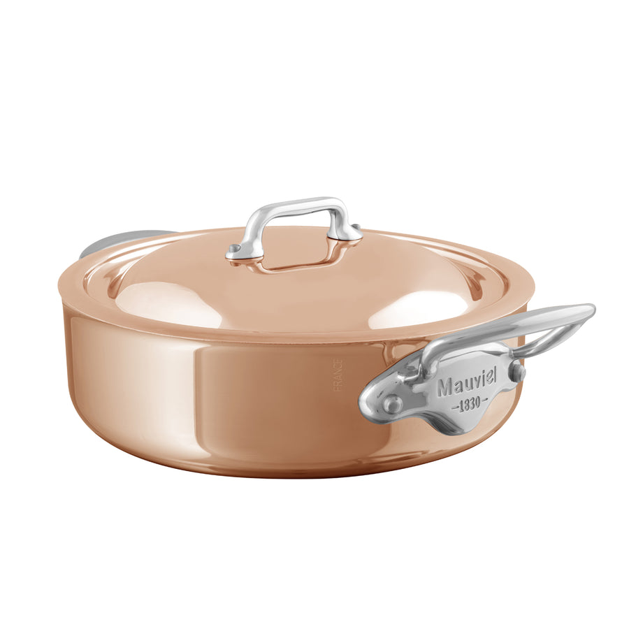 Mauviel M'6S Induction Compatible Copper Saute Casserole with Lid / 24cm