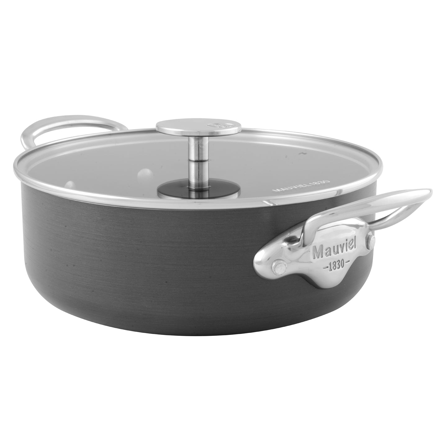 Mauviel M'Stone Saute Casserole with Glass Lid