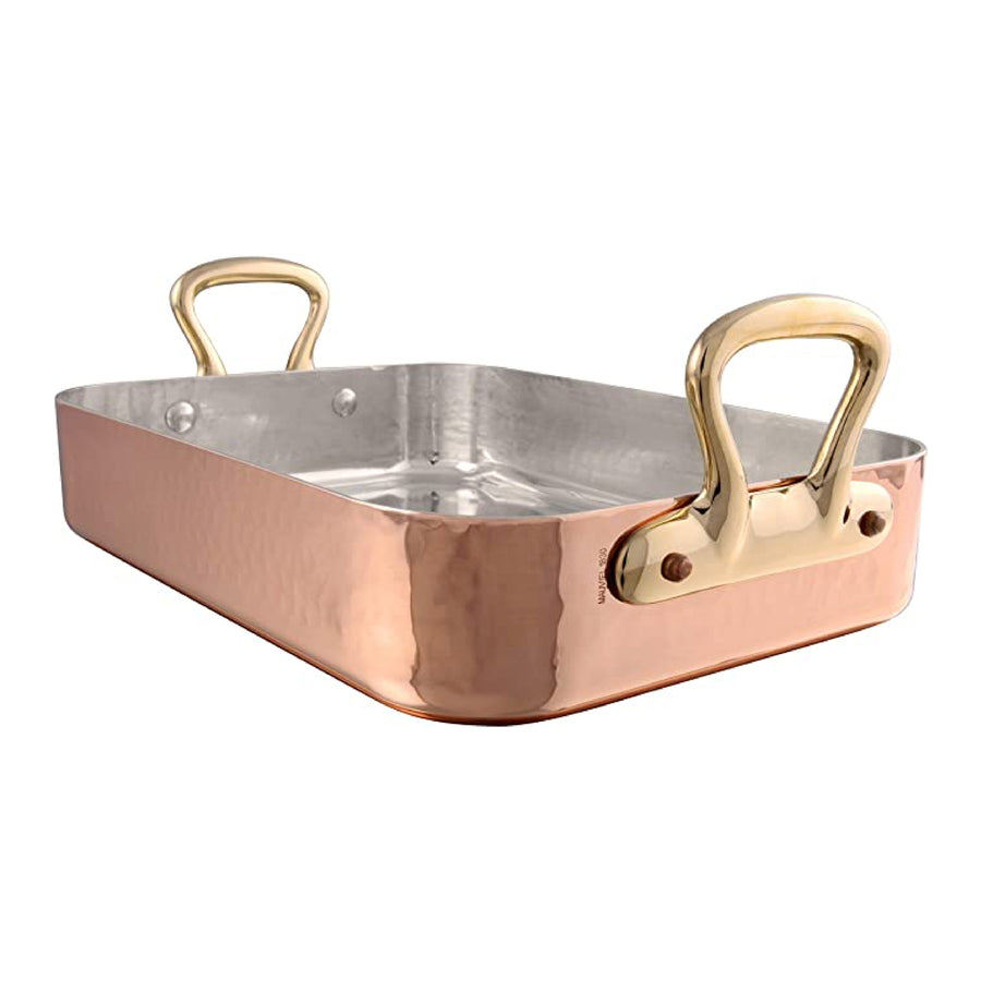 Mauviel M'Tradition Copper Roasting Pan Tin Lined 35x25cm